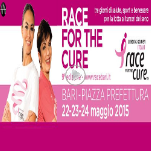 RACE FOR THE CURE -  Sindaco Antonio Decaro